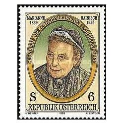 1 عدد تمبر ماریان هاینیش - رهبر جنبش زنان - اتریش 1989