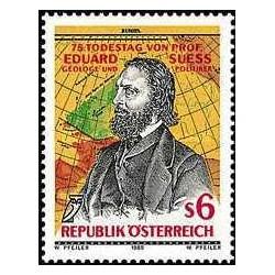 1 عدد تمبر پروفسور ادوارد سوئز - جغرافیدان - اتریش 1989
