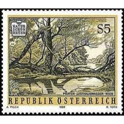 1 عدد تمبر زیبائیهای طبیعی - Prater Lusthauswasser - اتریش 1989
