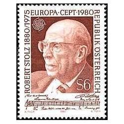 1 عدد تمبر مشترک اروپا - Europa Cept- روبرت اشتولز - آهنگساز - اتریش 1980