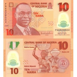 اسکناس پلیمر  10 نایرا - نیجریه  2009