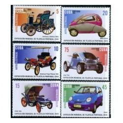 6 عدد تمبر ماشینهای برقی - کوبا 2010