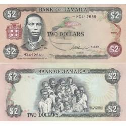 اسکناس 2 دلار - جامائیکا 1993