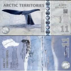 اسکناس پلیمر 11 دلار - قطب شمال 2011 نمونه