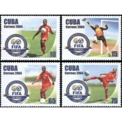 4 عدد تمبر صدمین سال فیفا - کوبا 2004
