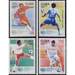 4 عدد تمبر جام جهانی فوتبال آلمان - کوبا 2006