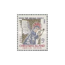 1 عدد تمبر کریستمس - جزیره کریستمس 1969