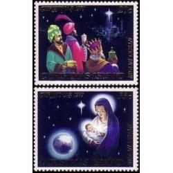 2 عدد تمبر کریستمس - جزیره کریستمس 1979
