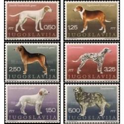 6 عدد تمبر نژاد سگها - یوگوسلاوی 1970