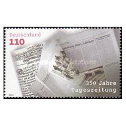 1 عدد تمبر 350مین سالگرد روزنامه - جمهوری فدرال آلمان 2000