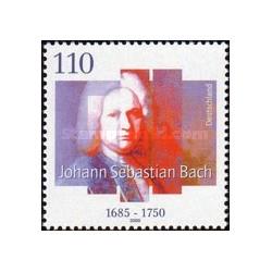 1 عدد تمبر 250مین سال مرگ جان سباستین باخ - آهنگساز - جمهوری فدرال آلمان 2000