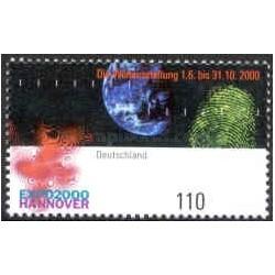 1 عدد تمبر اکسپو 2000 هانوور - جمهوری فدرال آلمان 2000
