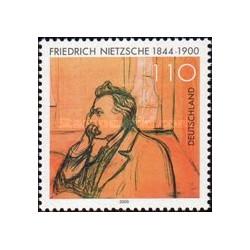 1 عدد تمبر صدمین سال مرگ فریدریش نیچه - فیلسوف - جمهوری فدرال آلمان 2000
