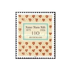 1 عدد تمبر راینر ماریا ریلکه - نویسنده - جمهوری فدرال آلمان 2000
