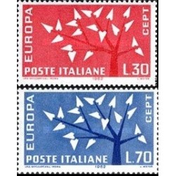 2 عدد تمبر مشترک اروپا - Europa Cept - ایتالیا 1962