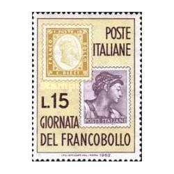 1 عدد تمبر روز تمبر - ایتالیا 1962