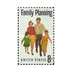 1 عدد تمبر برنامه ریزی خانوادگی  - آمریکا 1972