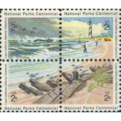 4 عدد تمبر صدمین سال پارکهای ملی - تابلو نقاشی - آمریکا 1972