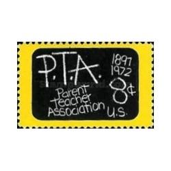 1 عدد تمبر انجمن اولیا و مربیان - آمریکا 1972
