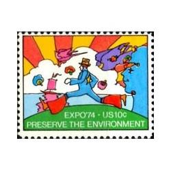 1 عدد تمبر نمایشگاه جهانی اکسپو 74 - آمریکا 1974