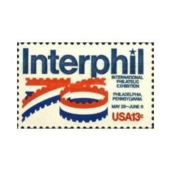 1 عدد تمبر نمایشگاه بین المللی تمبر فیلادلفیا - اینترفیل - آمریکا 1976
