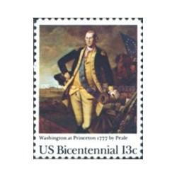 1 عدد تمبر تابلو نقاشی پرتره جرج واشنگتن - آمریکا 1977