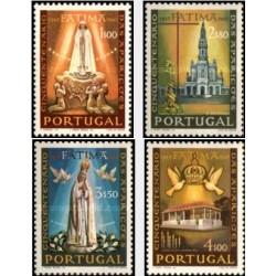 4 عدد تمبر مکاشفه فاطیما  - پرتغال 1967