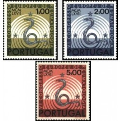 3 عدد تمبر کنگره روماتولوژی اروپا  - پرتغال 1967