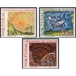 3 عدد تمبر تابلو نقاشی اثر مارکونی - پرتغال 1974