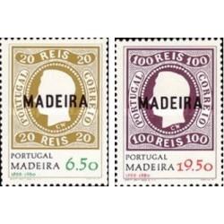 2 عدد تمبر سورشارژ بمناسبت 112مین سال انتشار تمبر در مادیرا - مادیرا پرتغال 1979