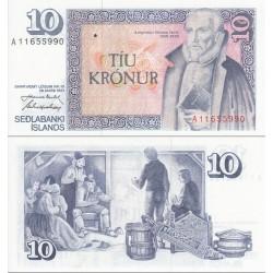 اسکناس 10 کرونور ایسلند 1981 تک