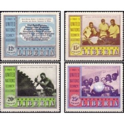 4 عدد تمبر کمکهای فنی سازمان ملل متحد - لیبریا 1954