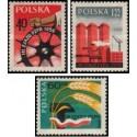 3 عدد تمبر سومین جلسه حزب کارگران متحد لهستان - لهستان 1959
