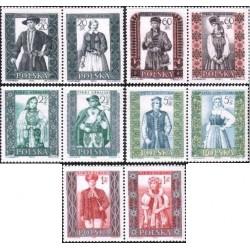 10 عدد تمبر لباسهای محلی - لهستان 1959