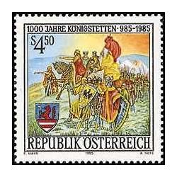 1 عدد تمبر 1000مین سال شهر کونیکزتتن - تابلو نقاشی - اتریش 1985