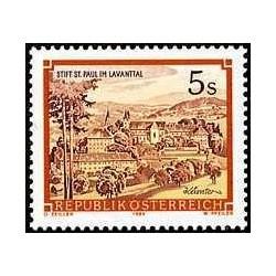 1 عدد تمبر سری پستی مناظر - لاوانتال - اتریش 1985