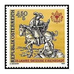 1 عدد تمبر اسقف اسن اشتات - اتریش 1985