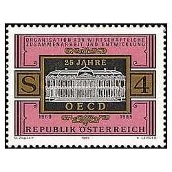 1 عدد تمبر کنواسیون ضد رشوه خواری - OECD - اتریش 1985