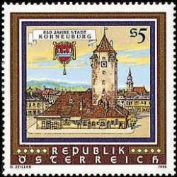 1 عدد تمبر 850 سالگی شهر کورنبرگ - اتریش 1986