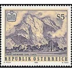 1 عدد تمبر زیبائیهای طبیعی اتریش - اتریش 1986