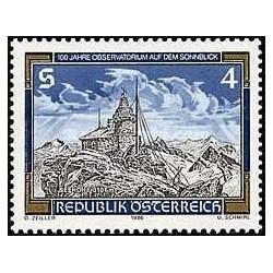 1 عدد تمبر رصدخانه سان بلیک - اتریش 1986