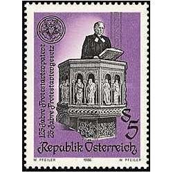 1 عدد تمبر فرمان پروتستان - اتریش 1986