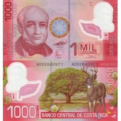 اسکناس پلیمر 1000 کلونس - کاستاریکا 2009