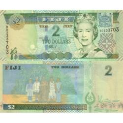 اسکناس 2 دلار - فیجی 2002
