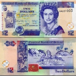 اسکناس 2 دلار - بلیز 2014