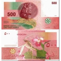 اسکناس 500 فرانک - کومور 2006