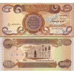 اسکناس 1000 دینار - عراق 2013 بدون علائم ویژه نابینایان