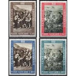 4 عدد تمبر نجات از گرسنگی - واتیکان 1963