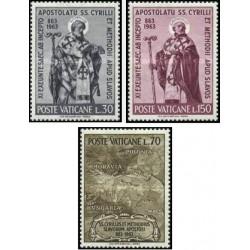 3 عدد تمبر سنت کریل و سنت متودیوس - واتیکان 1963