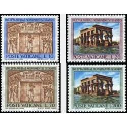 4 عدد تمبر کمپین یونسکو برای نجات بناهای تاریخی حبشه - واتیکان 1964